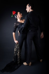 """Young Flamenco Dancers In Beautiful Dress On Black Background"" by nenetus. FreeDigitalPhotos.net"