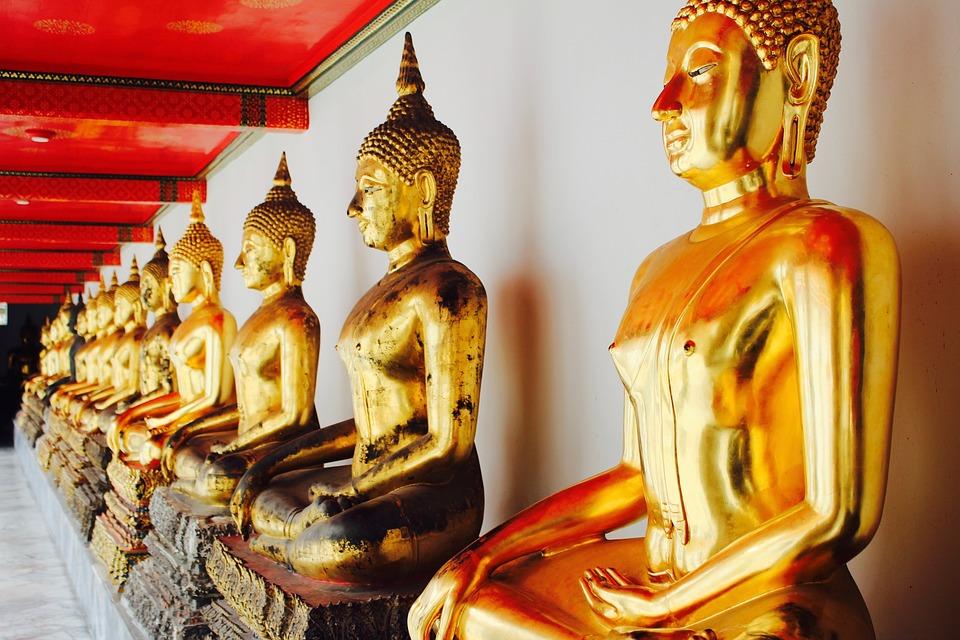 Gold Meditation Bangkok Buddha Buddhism Thailand