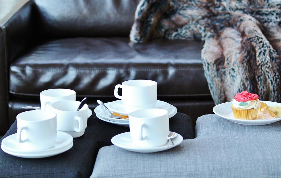 Sofa Coffee Cozy Cake Leather Blanket